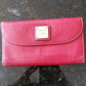 Dooney & Bourke Red  Continental Wallet